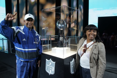 My father & I at the NFL Experience - George R. Brown Convention Center